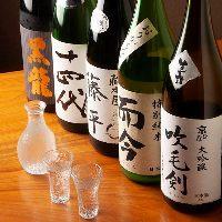 常時40種類以上の日本酒、お好みに合わせてご提案します。