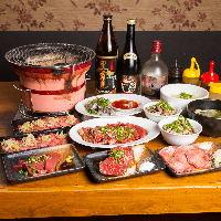 宴会充実の2時間飲み放題付コースは4,000円から。