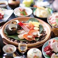 地元の食材を贅沢に味わえる会席料理