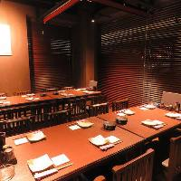 最大18名様までテーブル個室でのご宴会が可です。