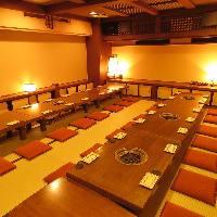 仙台での宴会・お座敷個室は人数に合わせて色々。最大60名様迄。