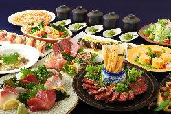 【 和洋折衷宴会料理コース 】 5,000円飲み放題付