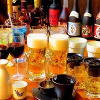 ドリンクメニューも豊富です。ノンアルコールのご用意もあります