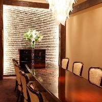【百合の間】最大10名様までご利用頂けるテーブル式完全個室。