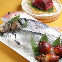 宮城県を中心に東北産にこだわった旬の新鮮な食材を使用