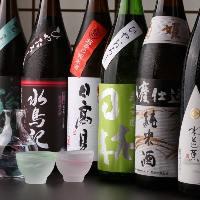 宮城を中心とした全国の地酒を常時17~18種ご用意しております。