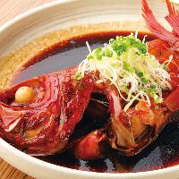 当店1番人気!金目鯛丸ごと1匹の煮付け。 日本酒との相性抜群