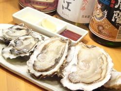 【4ピース☆プラン】では4産地の生牡蠣食べ比べを堪能!