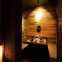 【少人数~大歓迎】暖色系を基調とした和モダン空間♪全席個室◎