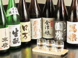お料理と相性の良い福島県内の地酒を御用意しております。