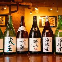 宮城の地酒を中心に人気の日本酒をご用意しております。