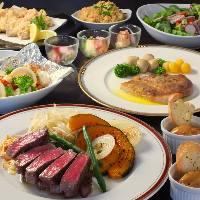 各種ご宴会、接待・会食にはコースメニューがおすすめです。