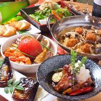 和食をふんだんに盛り込んだ女子会【和】コース