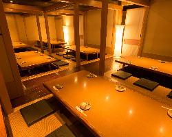 全席個室、2名~54名様対応。最大宴会・貸切100名様まで可能!