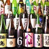 地酒を始め各種美味しいお酒取り揃えております。