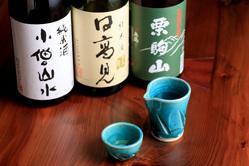 宮城県産の地酒をご用意。 そばとの相性は◎