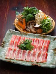 有機野菜と豚肉の塩ちゃんこ鍋