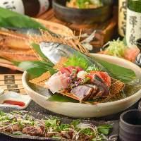 定番宴会コースの1番人気!料理9品+120飲み放題4,000円!