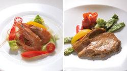 今月のTSUBAKIのランチ 1,500円 肉と魚から選べます