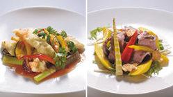 今月のTSUBAKIのランチ 2,000円 肉と魚から選べます