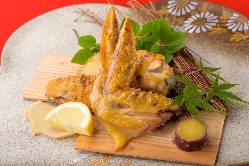 季節の野菜と海老の天婦羅 盛合せ 揚げたてサクサクでご提供♪