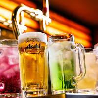 ビール、各種カクテル、サワー!
