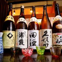 浦霞・澤乃泉や田酒・久保田など人気の地酒をご用意しております