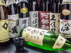 東北・宮城の地酒ございます。コースでも10種飲めます