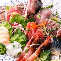 鮮度にも気を付けております!毎朝漁港から仕入れる新鮮な鮮魚
