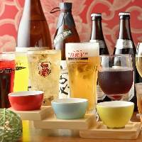 焼酎、日本酒好きなら+500円でプレミアム飲み放題に♪