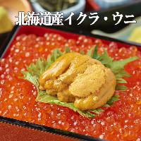 宴会+500円で〆のご飯を北海道産いくらと雲丹のご飯に変更OK