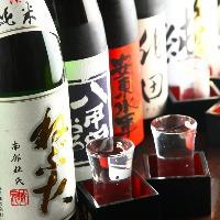 飲み放題も焼酎、日本酒好きなら+500円でプレミアム飲み放題に♪