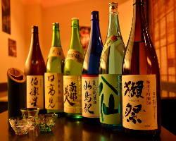 地酒好きには堪らない!季節限定酒等もご用意しております。
