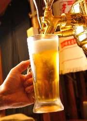 炭火焼き肉には、やっぱり生ビール!!