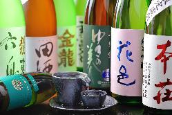 宮城の地酒はもちろん、女将の地元秋田のお酒もございます。