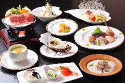 季節のお料理をご堪能ください。 コースご予約で陰膳サービス。