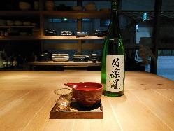 日本酒は片口でご提供しています。 一合¥700円から