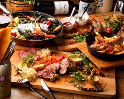 本格的な欧州料理を単品で、コースでご堪能いただけます