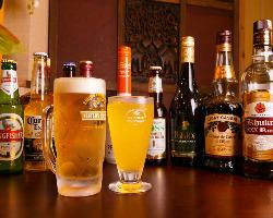 本場のインドビールが飲めるのはサムザーナだけ!