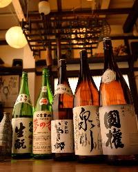 福島の地酒や麦酒など、美味しいお酒を揃えております。