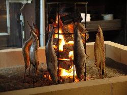 名物の炭火一本焼き