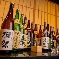 獺祭純米大吟醸50や田酒など地酒20種飲み放題コースございます♪
