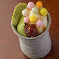季節の食材を使用したデザート