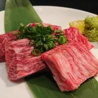 仙台牛の肉質にこだわっています。
