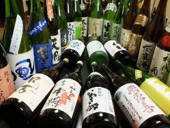 地元福島の地酒を豊富に取り揃え!60種以上ございます。