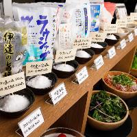 シュラスコを塩で食べる!常時10種類の『塩』ビュッフェ