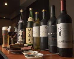 上質なお肉にワインや日本酒を合わせて。