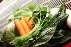 旬の蔵王野菜をたっぷり使っています