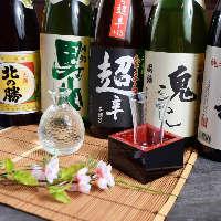 種類豊富な日本酒・焼酎もそろえております。