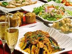 イタリアンをベースにした洋風料理を堪能。